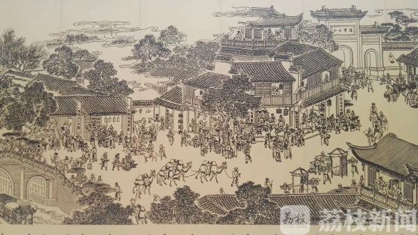 惊艳!外秦淮河畔将现140米大型壁画《秦淮胜迹图》