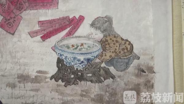 """常州青年女画家手绘""""抗疫""""宣传画"""